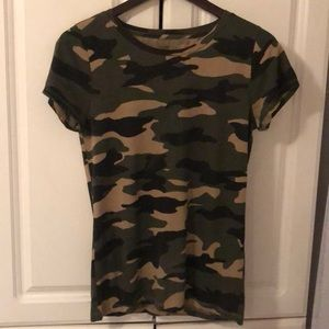 Cute Camo J Crew Collector Tee